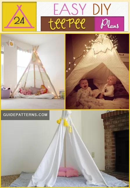 Tent Bed 24 Easy Diy Teepee Plans | Guide Patterns