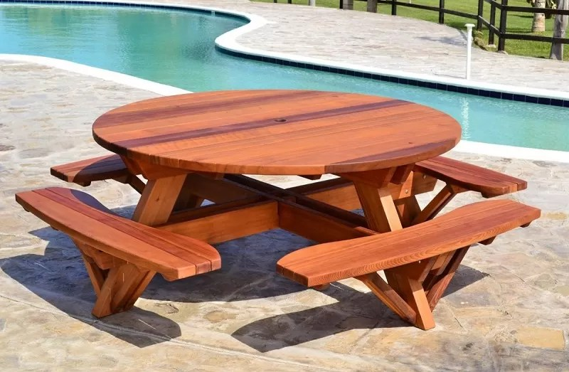 Table Jardin Octogonale 21 Wooden Picnic Tables: Plans And Instructions | Guide