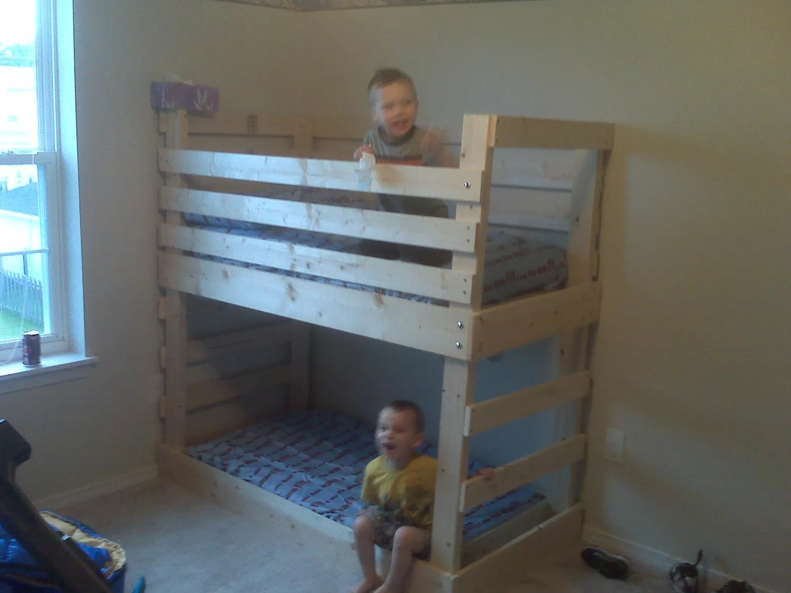 Double Loft Bed For Kids 25 Diy Bunk Beds With Plans Guide Patterns