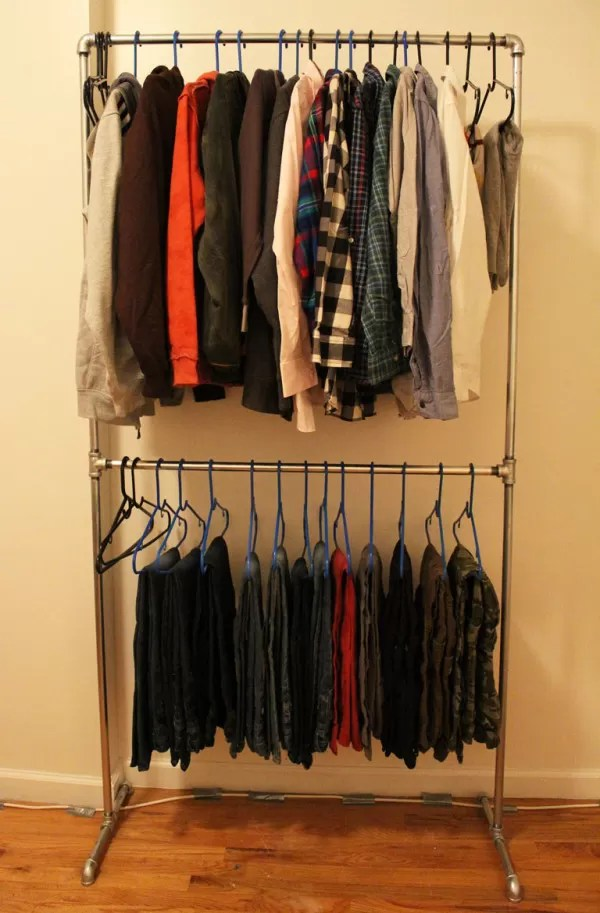 Cloth Rack 23 Pipe Clothing Rack Diy Tutorials | Guide Patterns