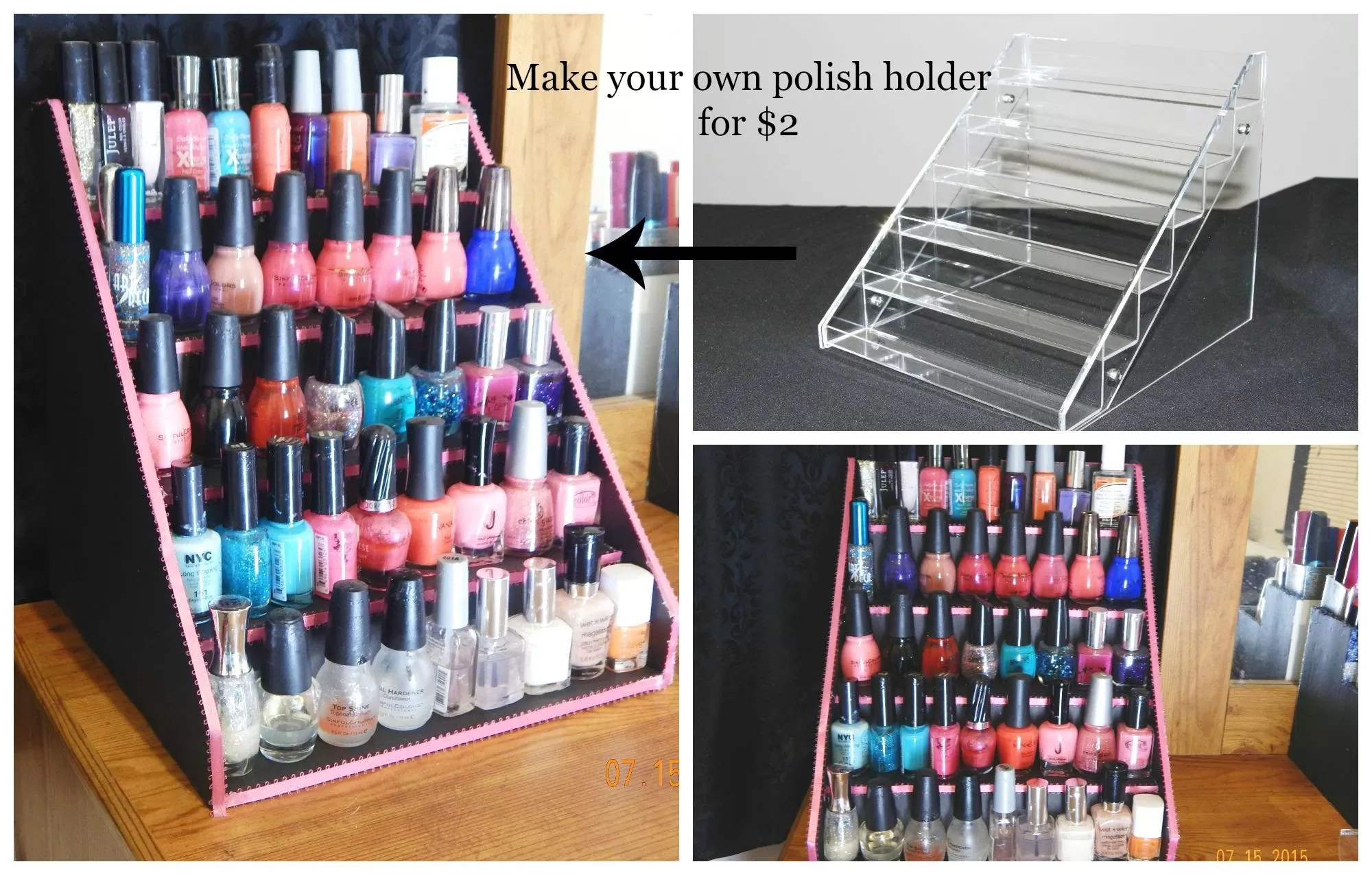 Diy Nail Desk 31 Diy Racks For Nail Polish Display Guide Patterns