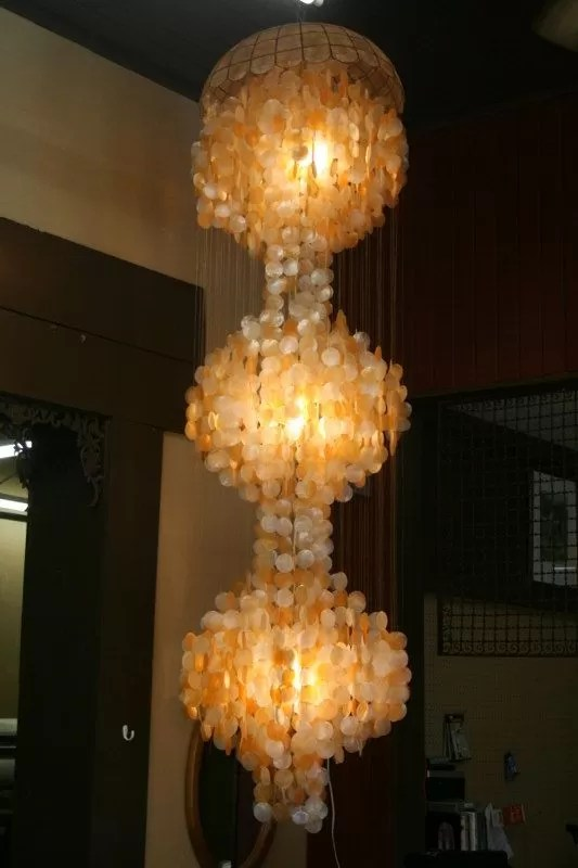 Lampe Gold 10+ Diy Capiz Shell Chandeliers | Guide Patterns