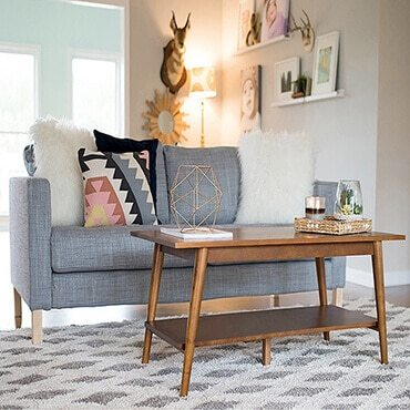 How to Decorate with a Shag Rug - Overstock - living room shag rug