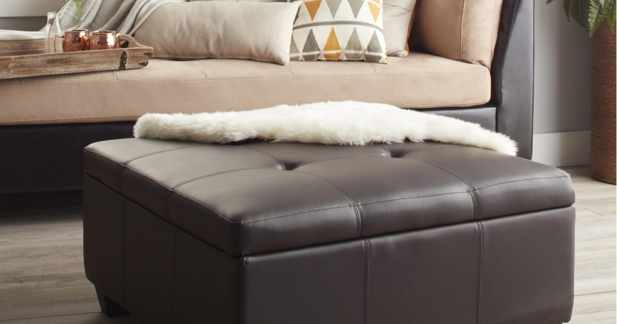 Tips on Coordinating an Ottoman with Your Living Room - Overstock - living room ottoman