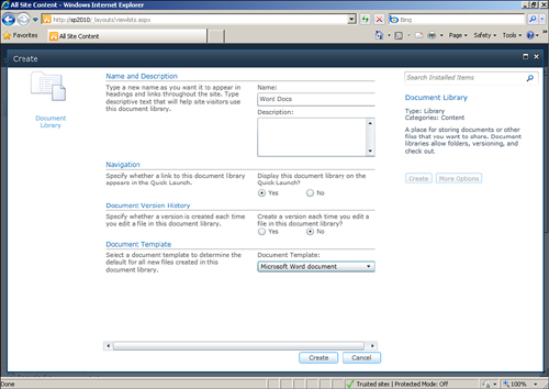 InfoPath with SharePoint 2010  Document Information Panel Content