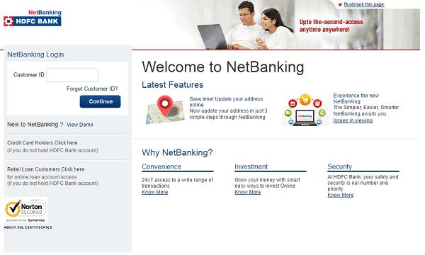 Hdfc Netbanking Login Guide At Netbanking Hdfcbank
