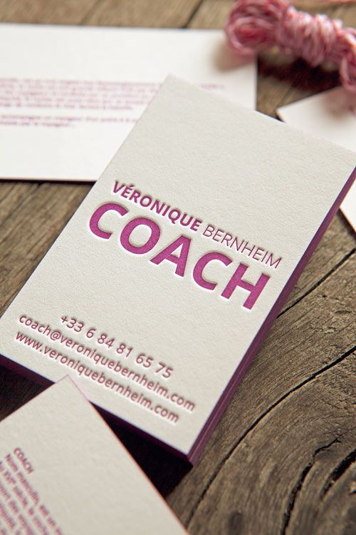 Business Card Veronique Bernheim