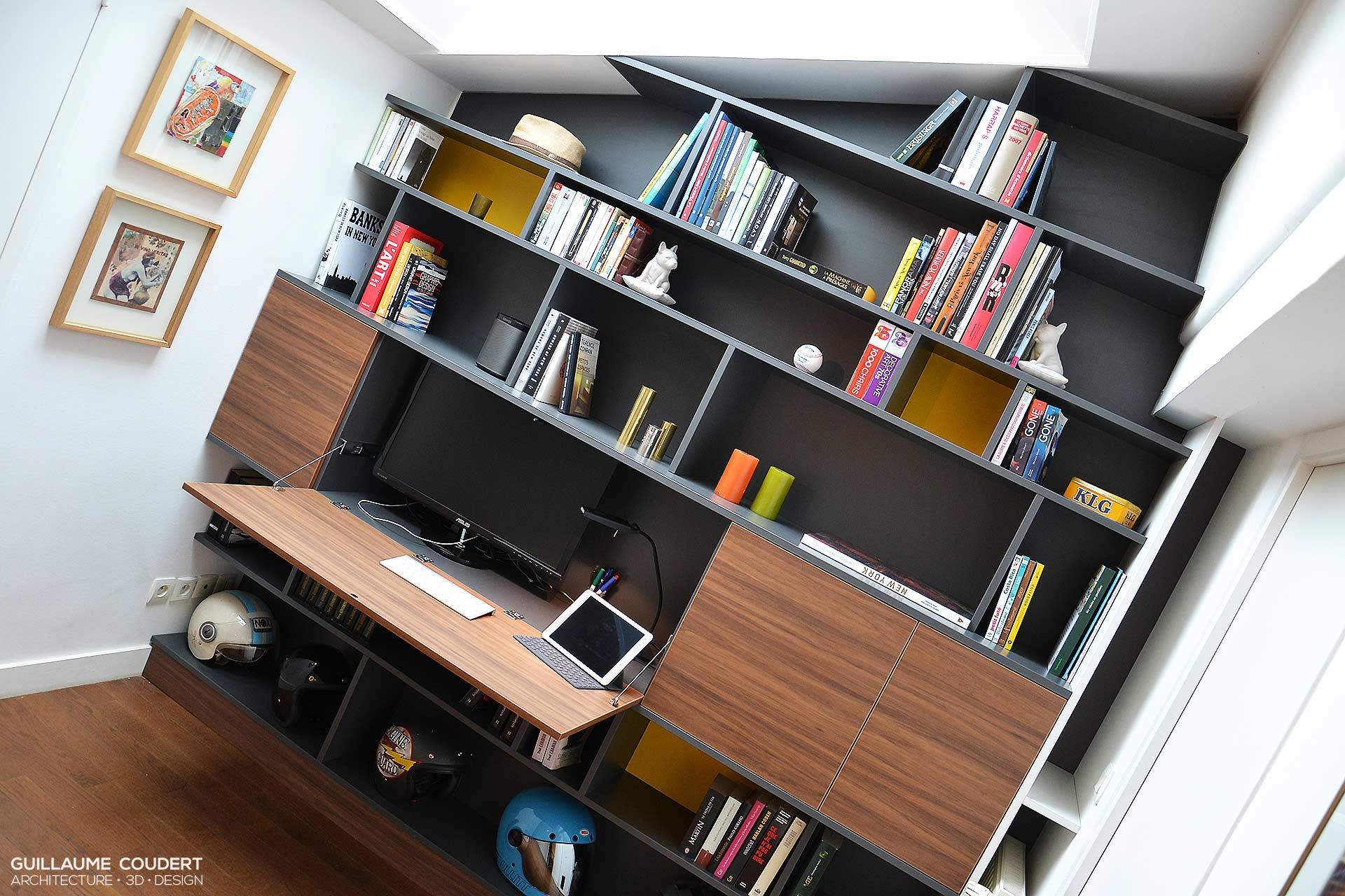 Secretaire Meuble Design Bibliotheque + Secretaire – Guillaume Coudert Architecture