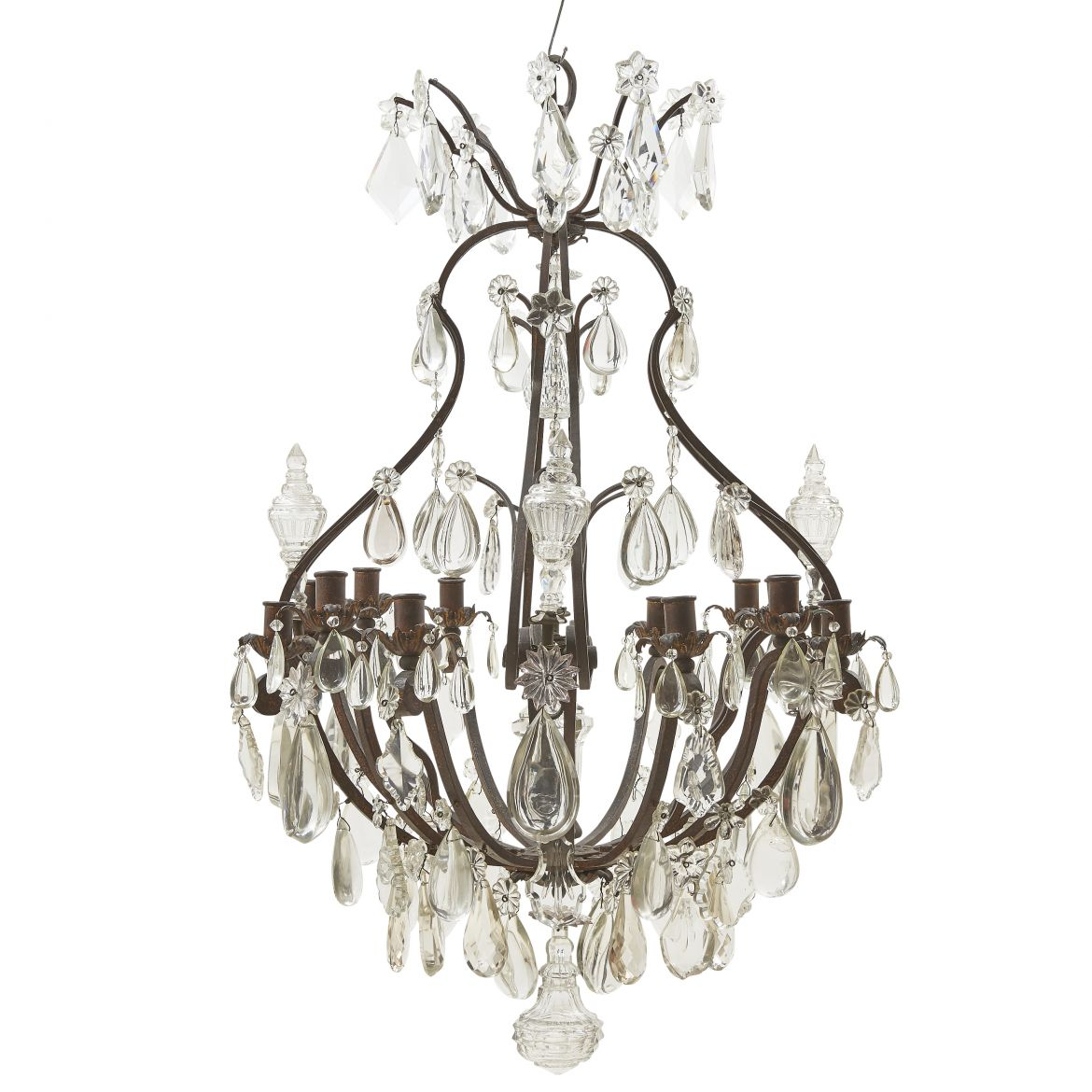 Wrought Iron Rectangular Chandelier Guinevere Antiques Wrought Iron Chandelier