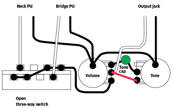 guitar wiring grounding a capacitor