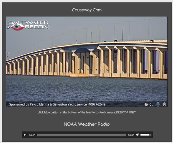 Galveston Bay Webcams at Saltwater-Recon