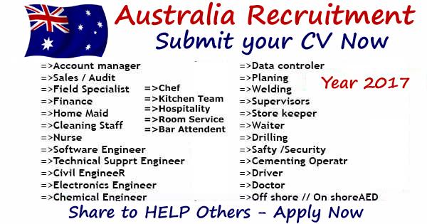 Multiple Companies Hiring In Australia Work Permit Gulf