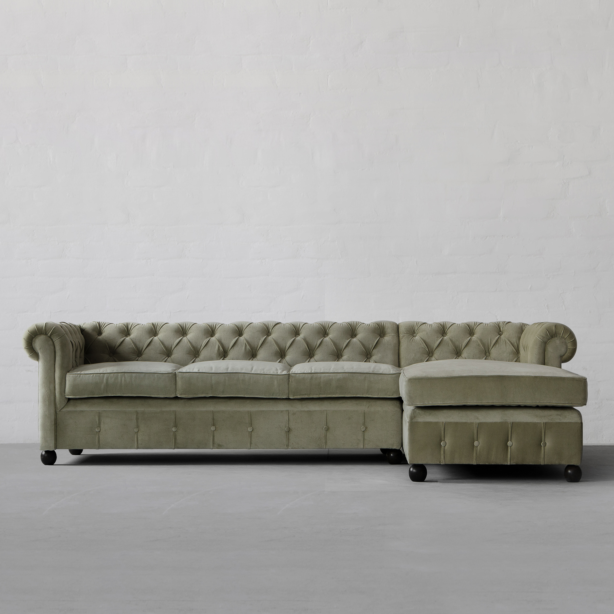 Chesterfield Sectional Sofa Chesterfield Chaise Sectional Sofa Large