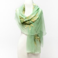 Handpainted Bamboo Scarf   Gump's