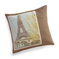 Eiffel Tower Stamp Pillow   Gump's