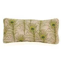 Peacock Peridot Outdoor Bolster Pillow | Gump's