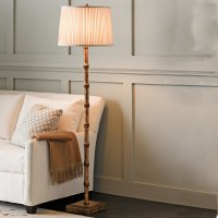 Bamboo Floor Lamp, Gold | Gump's