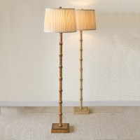 Bamboo Floor Lamp, Antique Ivory | Gump's