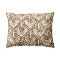 Avalon Gold Beaded Pillow | Gump's