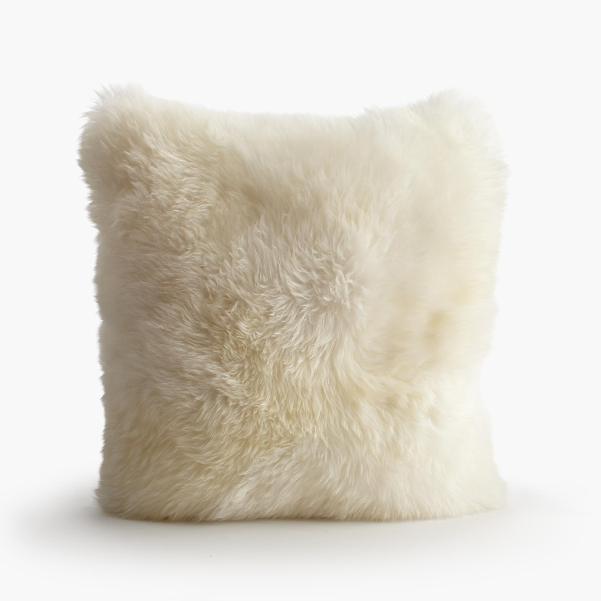 Sheepskin Pillow, Ivory