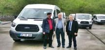 Milletvekili Osman Akgül Gümüşhane Muhtarlar Derneğine Minibüs Hediye Etti