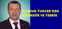 TEŞEKKÜR VE TEBRİK