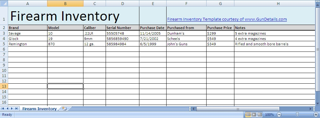 inventory log sheet template - inventory sheets template