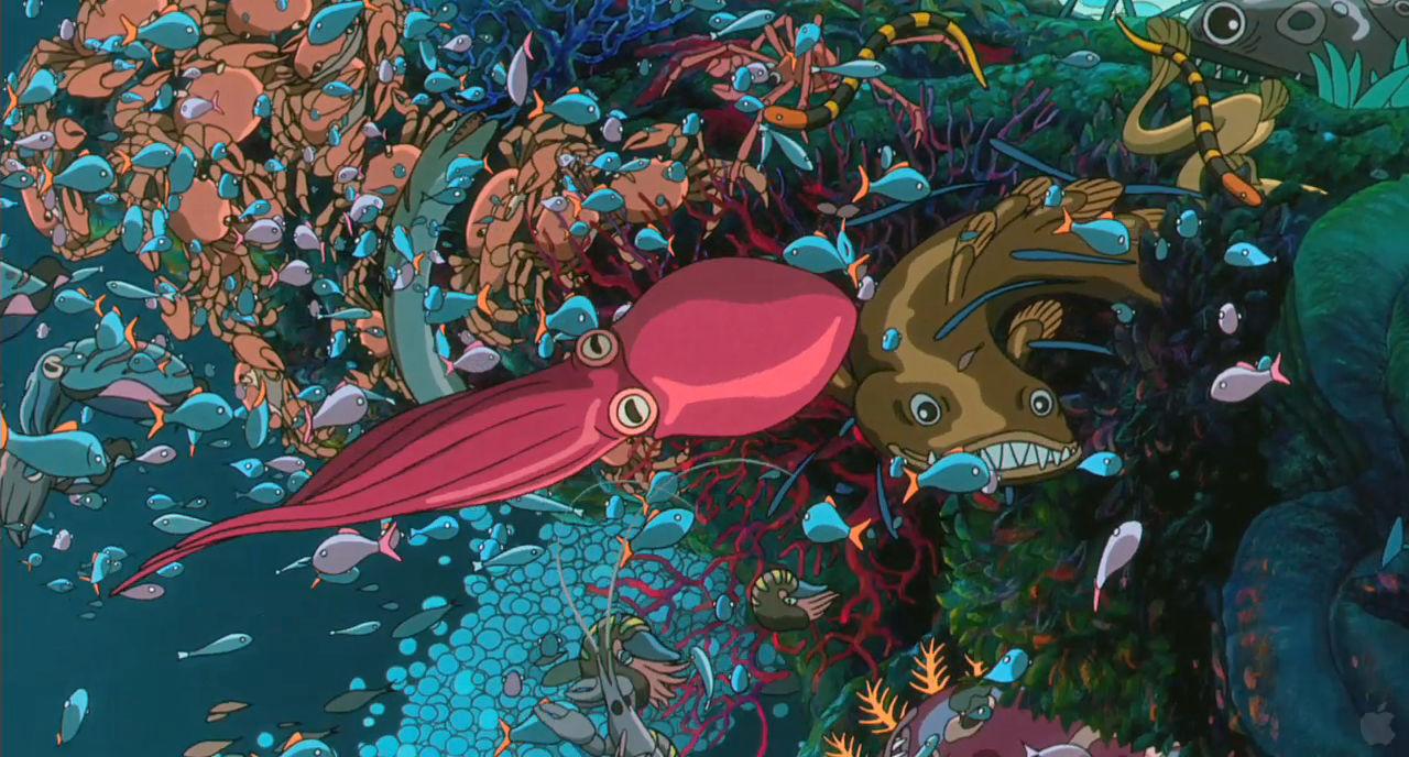 Under The Sea Wallpaper Hd Ponyo And Organic Design Ha Neul Seom