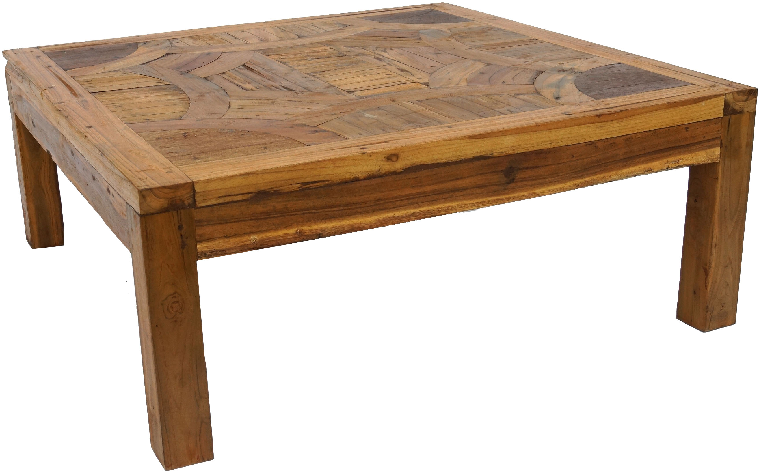 Couchtisch Goa Coffee Table Side Table Coffee Table With Inlays Of Recycled Teak Model 1 40x100x100 Cm