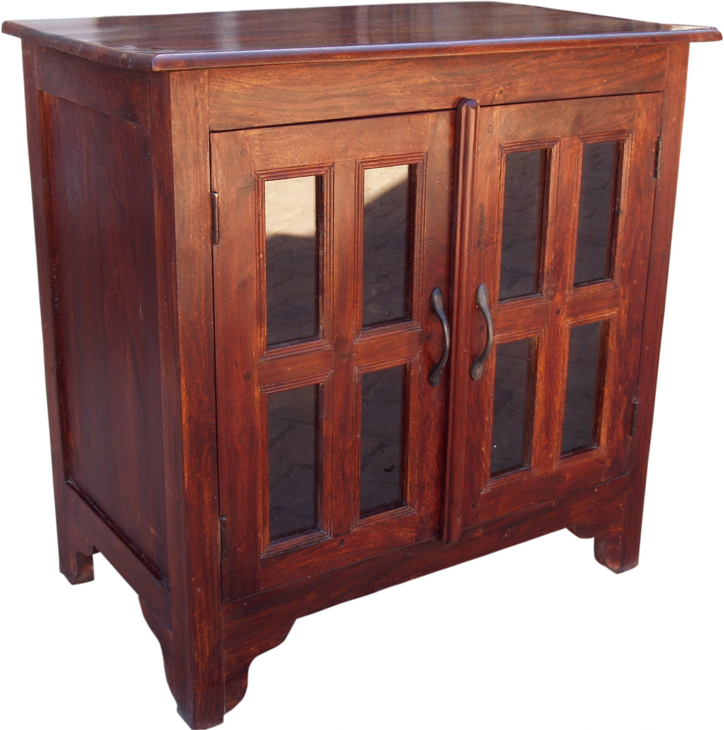 Vitrine Kolonialstil Television Cabinet Commode Sideboard Made Of Solid Wood Model 7 76x76x46 Cm