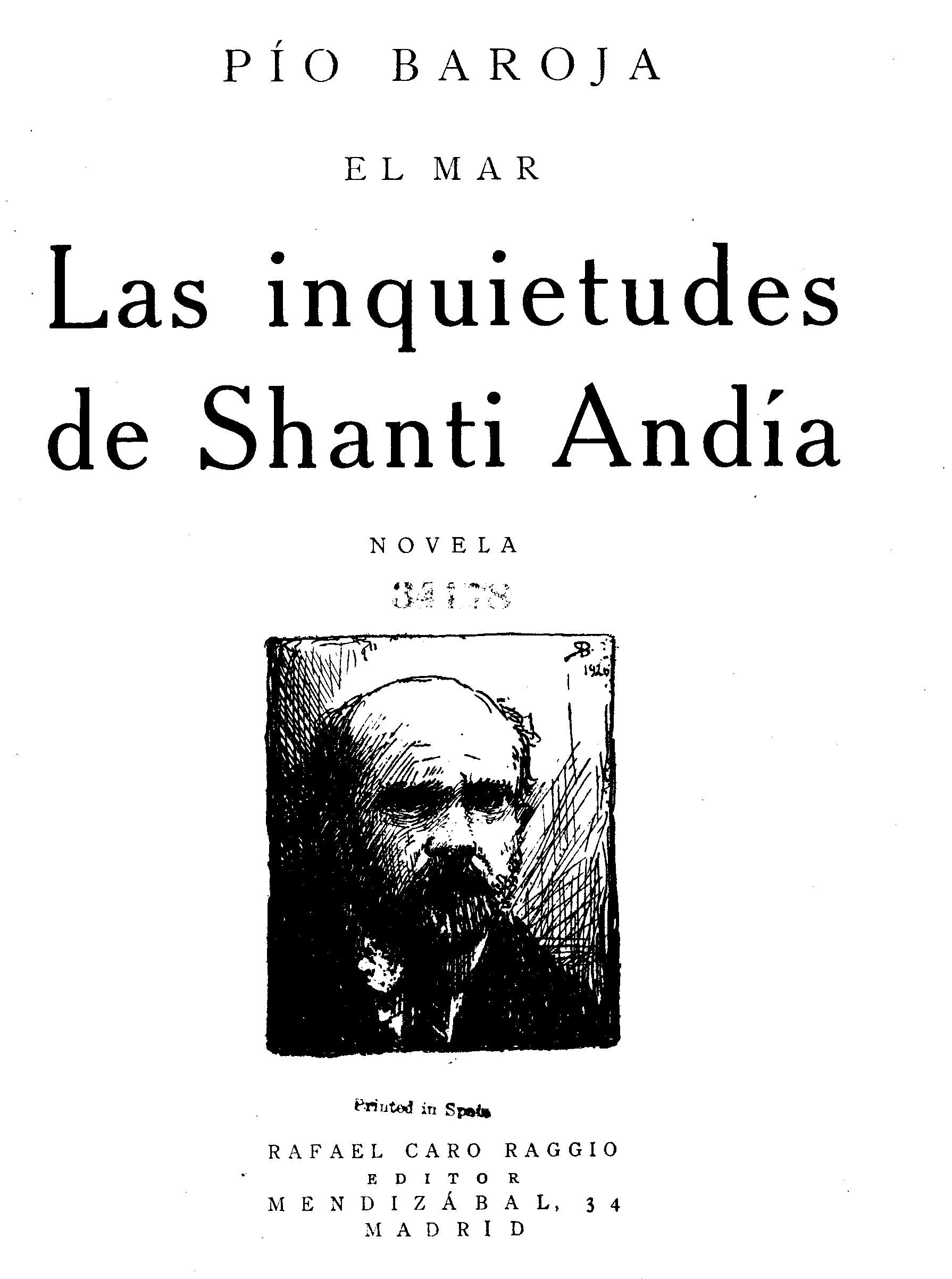 Resumen Del Libro La Busca De Pio Baroja The Project Gutenberg Ebook Of Las Inquietudes De Shanti Andía By