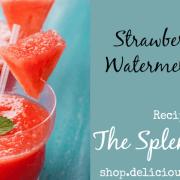 strawberry mint watermelon slush