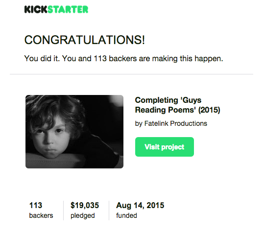 Crowdfunding campaign successful!