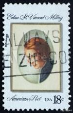 Postal stamp celebrating Edna St. Vincent Millay