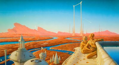 """""""I was almost finished with 'The Martian Chronicles' his 1950's collection of connected stories about man's attempt to colonize Mars."""""""