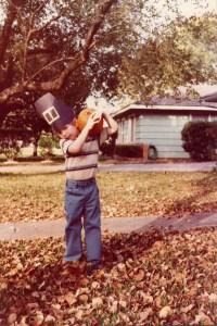 Hunter, aged four, in Houston, Texas