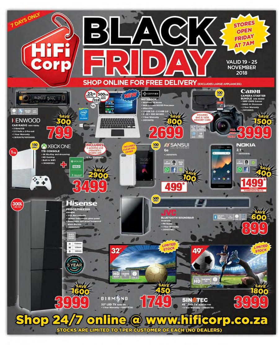 Black Fruday Hifi Corp Black Friday 19 Nov 25 Nov 2018 Guzzle Co Za