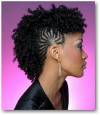 Braided mohawk hairstyles for black girls