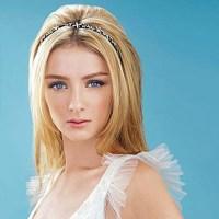 Straight bridal hairstyles