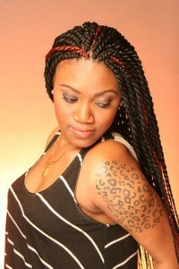 Twisted braids hairstyles