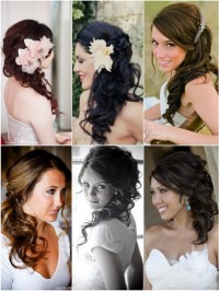 Wedding hair to the side