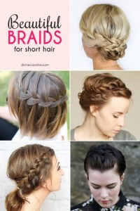 Easy braided hairstyles for short hair