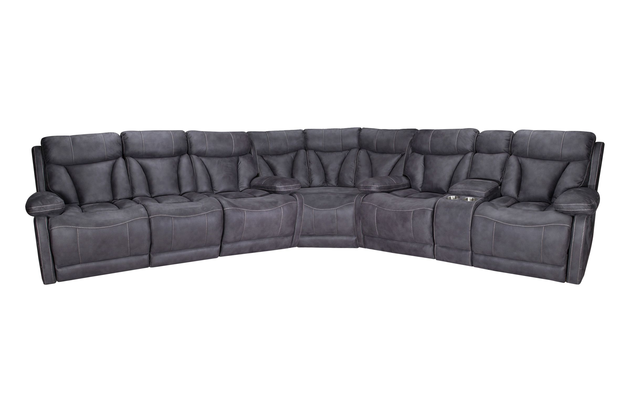 Borwich Power Reclining Sectional At Gardner White