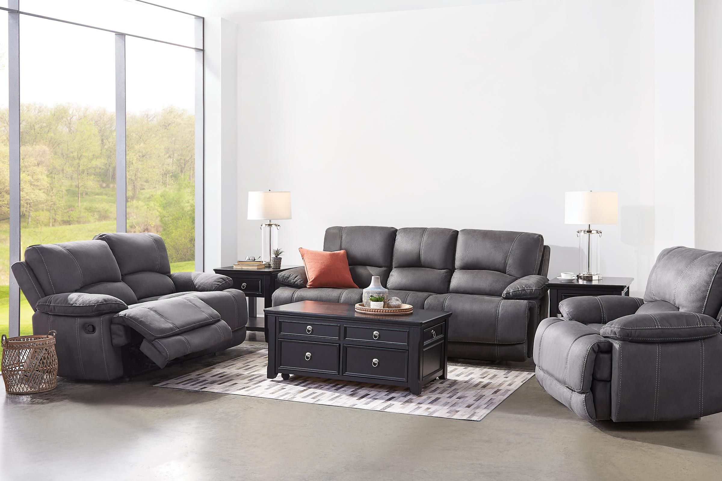 Victor Microfiber Reclining Sofa At Gardner White