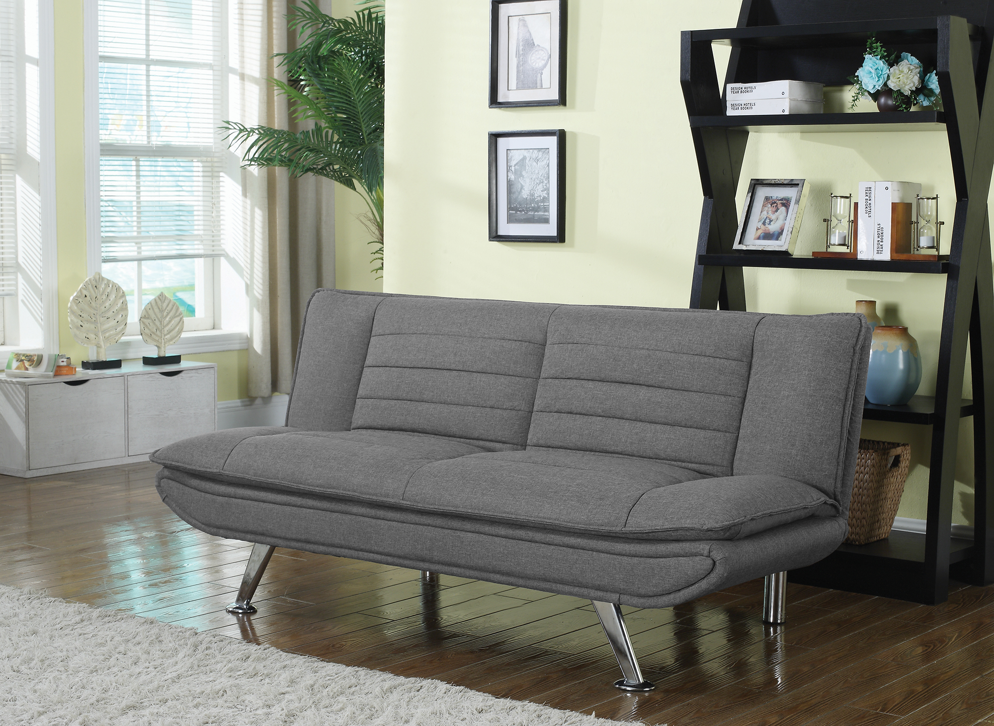 Ebay Sofa Grey Details About Coaster Fabric Sofa Bed With Grey Finish 503966