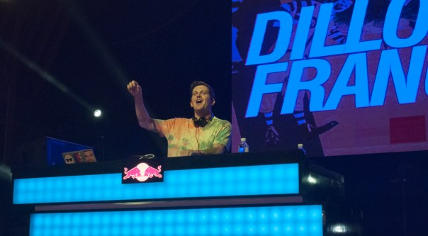 Dillon Francis not giving an I.D.G.A.F.O.S. Credit: Helen Jiang