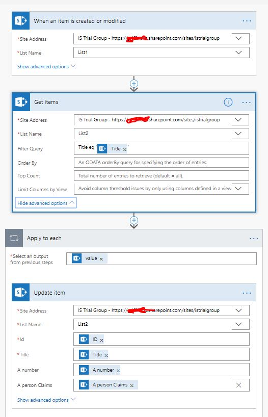 Use Flow to update SharePoint list Item creating duplicate items