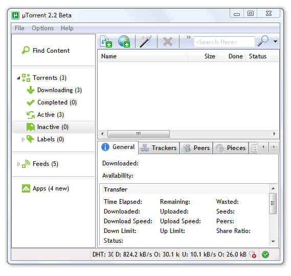 53de332ea64c46617b54872227c0113b uTorrent 2.2 Beta Gets a New Look