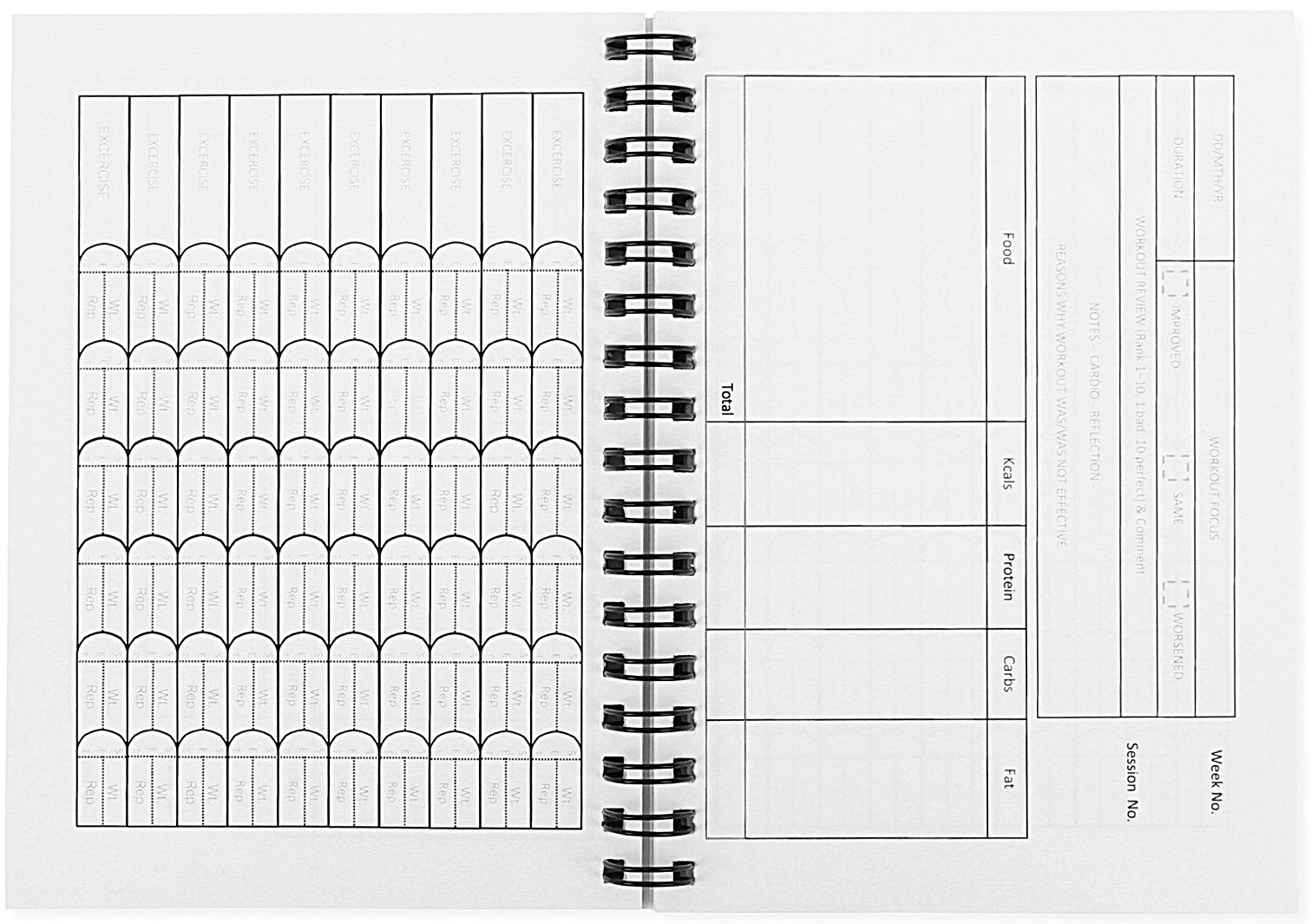 workout tracking book