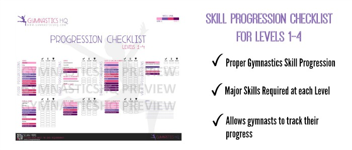 gymnastics skill progression checklist level 3